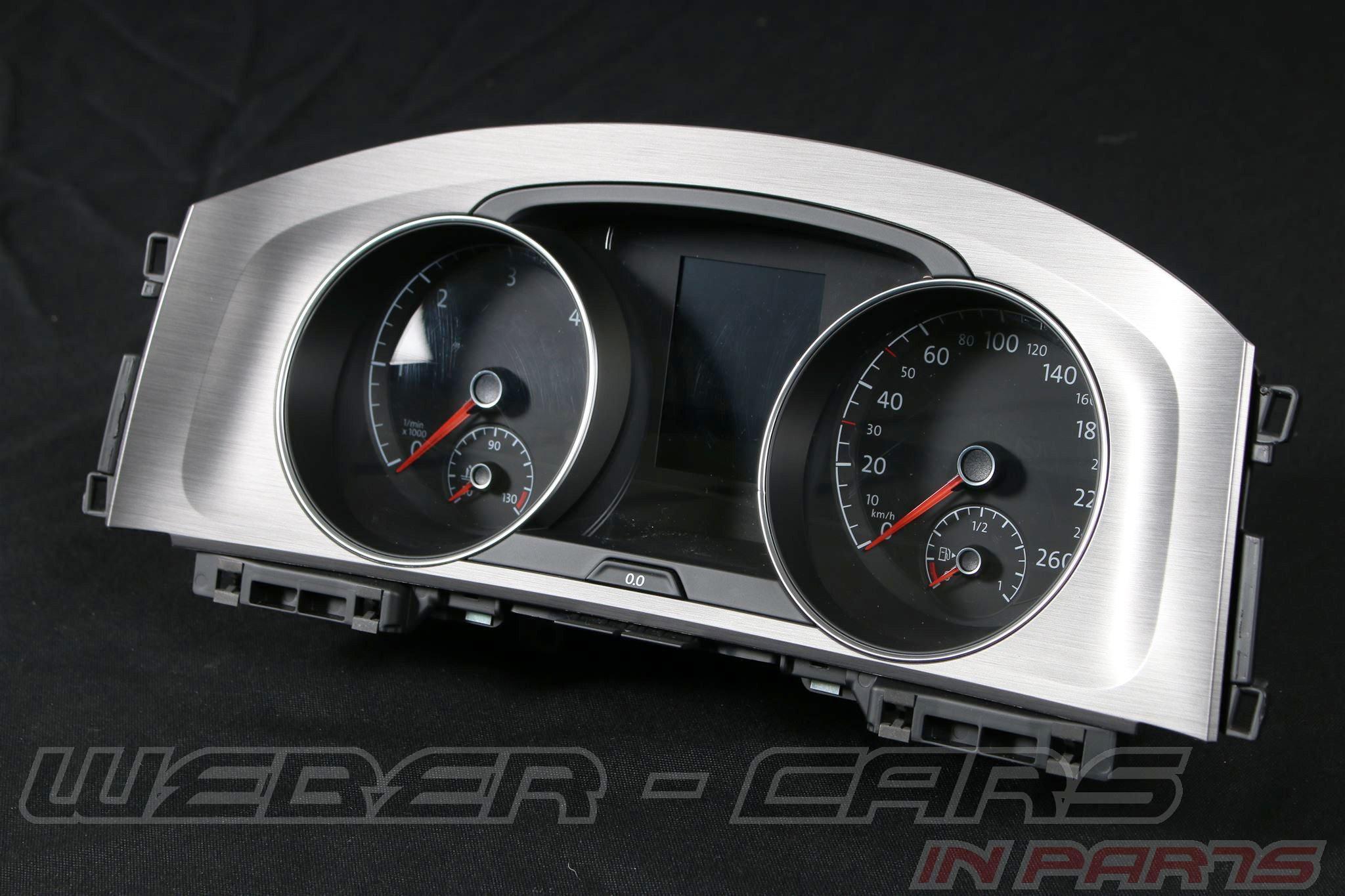 vw golf 7 diesel 260km h tacho kombiinstrument cluster speedo 5g0920860a ebay. Black Bedroom Furniture Sets. Home Design Ideas