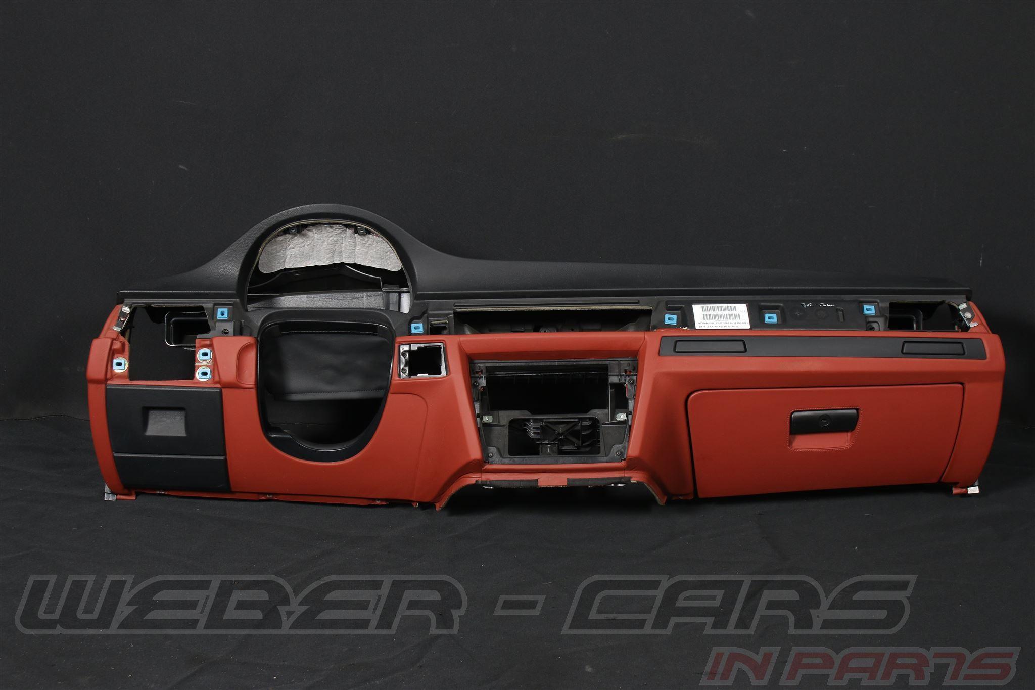 BMW 3er M3 E90 E92 Armaturenbrett Leder Novillo erweitert fuchsrot ... | {Armaturenbrett bmw 78}